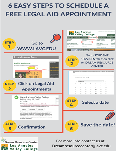 6 steps to schedule fee legal aid appointment