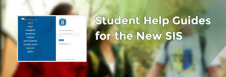 Student Help Guides for the New SIS