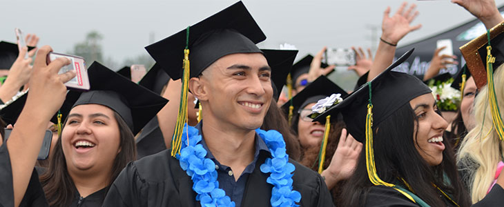 Male LAVC Graduate at Commencement