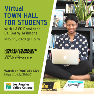 Virtual LAVC Town Hall for Students on May 11 at 1 p.m.