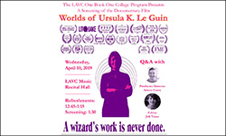 Worlds of Ursula K Le Guin Documentary Screening flyer