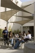 Students in Monarch Patio
