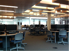 picture of interior of computer lab