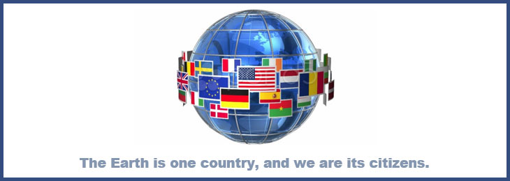 The Earth is one country, and we are its citizens.