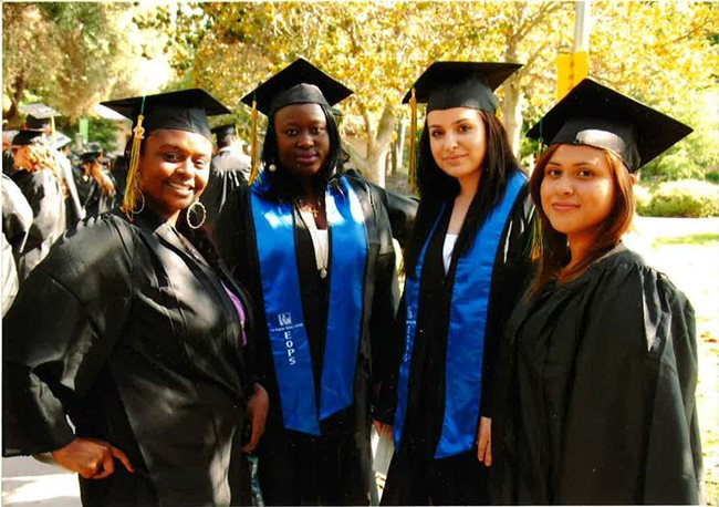 EOPS students in their cap and gowns