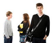stock image of students standing