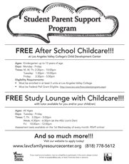 Student Parents! You May Qualify for Free After School Childcare at LAVC