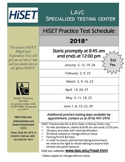 HiSET (High School Equivalency Test) Practice Test