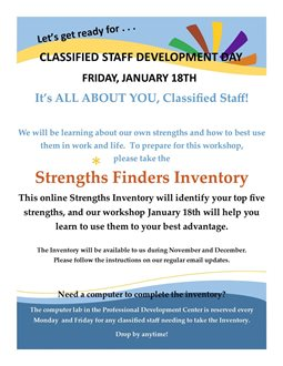 Strength Finders Workshop for Classified Staff