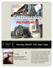 "Want to be Prepared for the Next ""Big One""? Register for LAVC's Earthquake Preparedness Class"