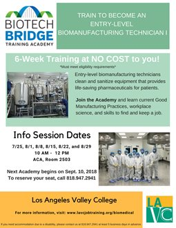 Biotech Bridge Training Academy Information Session