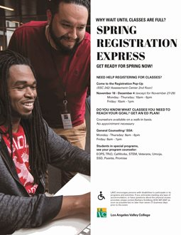 Spring Registration Express - Walk-In Counseling