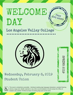 Welcome Day: Spring 2019