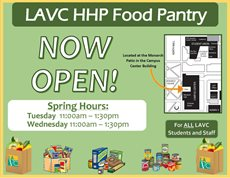 LAVC Helping Hands Food Pantry Open This Spring to Helps the Hungry on Campus