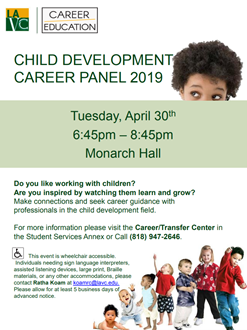 Child Development Career Panel