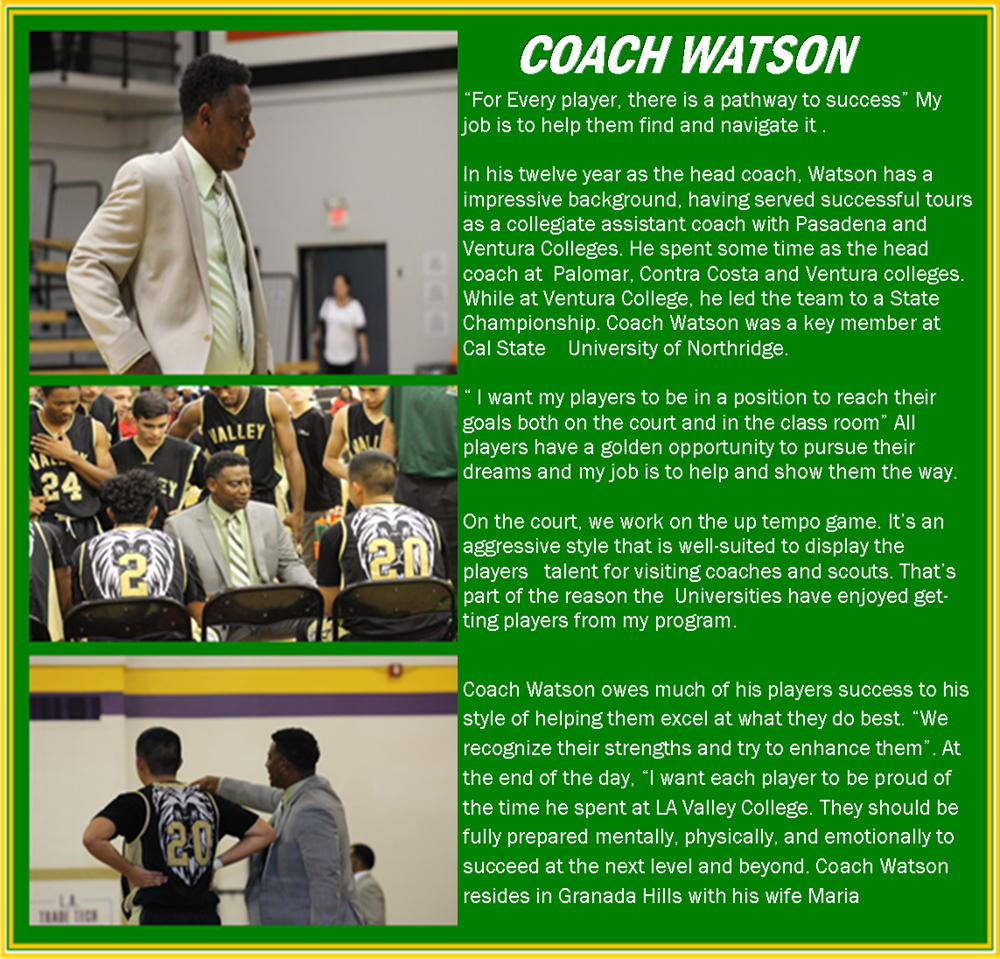 Men S Basketball Coaches Los Angeles Valley College