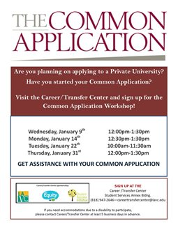 Common Application Workshop