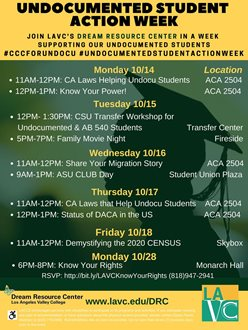 Undocumented Student Action Week: CSU Transfer Workshop for Undocumented & AB 540 students