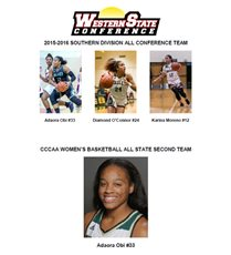 Athletics Update!—Three Women's Basketball Players Named to 1st Team All-Conference and One Named to All-State Second Team