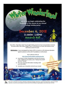 Winter Wonderland Employee Holiday Party 2018