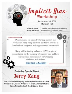 Implicit Bias Workshop with special guest Jerry Kang