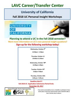 UC Personal Insight Workshop
