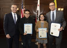 LAVC Students Participate in LA Mayor's Youth Roundtable
