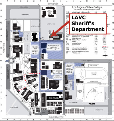 Lavc Campus Map Location: Los Angeles Valley College Lavc Campus Map