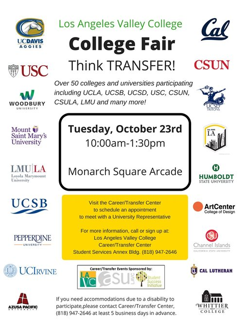 Welcome To The Career Transfer Center Los Angeles Valley College