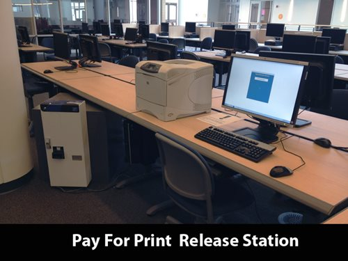 Photo of pay for print release station