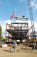 Hoisting the Last Beam of Allied Health & Science Center