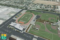 Rendering of Aerial View of Athletic Training Facility
