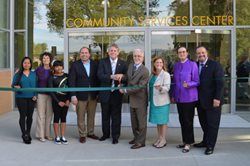 Ribbon cutting for Community Services Center