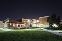 Library & Academic Resources Center at night