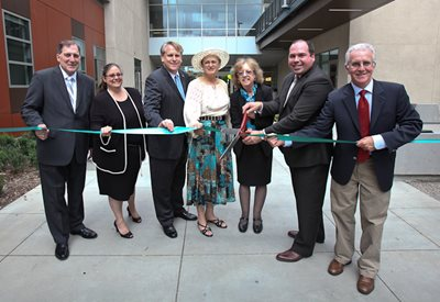 LACCD officials cut the ribbon for the LARC