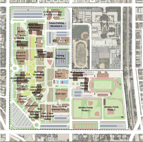Lavc Campus Map LAVC Facilities Master Plan: Los Angeles Valley College Lavc Campus Map