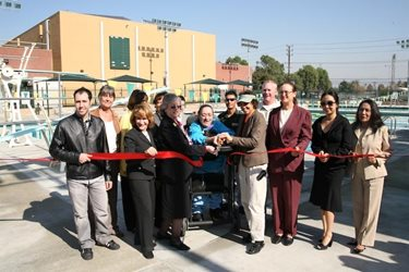 Officials cut ribbon on Aquatics Center