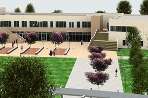 Above View Rendering of Student Services