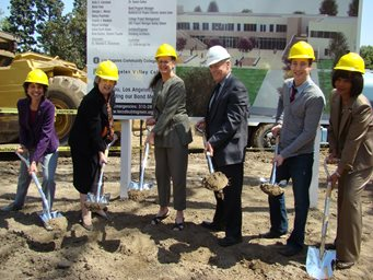 officals breakground on student services complex