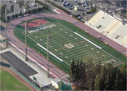 Arial picture of Football field
