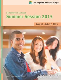 Cover for Summer 2015 schedule